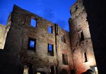 Iluminacja zamku w Siewierzu