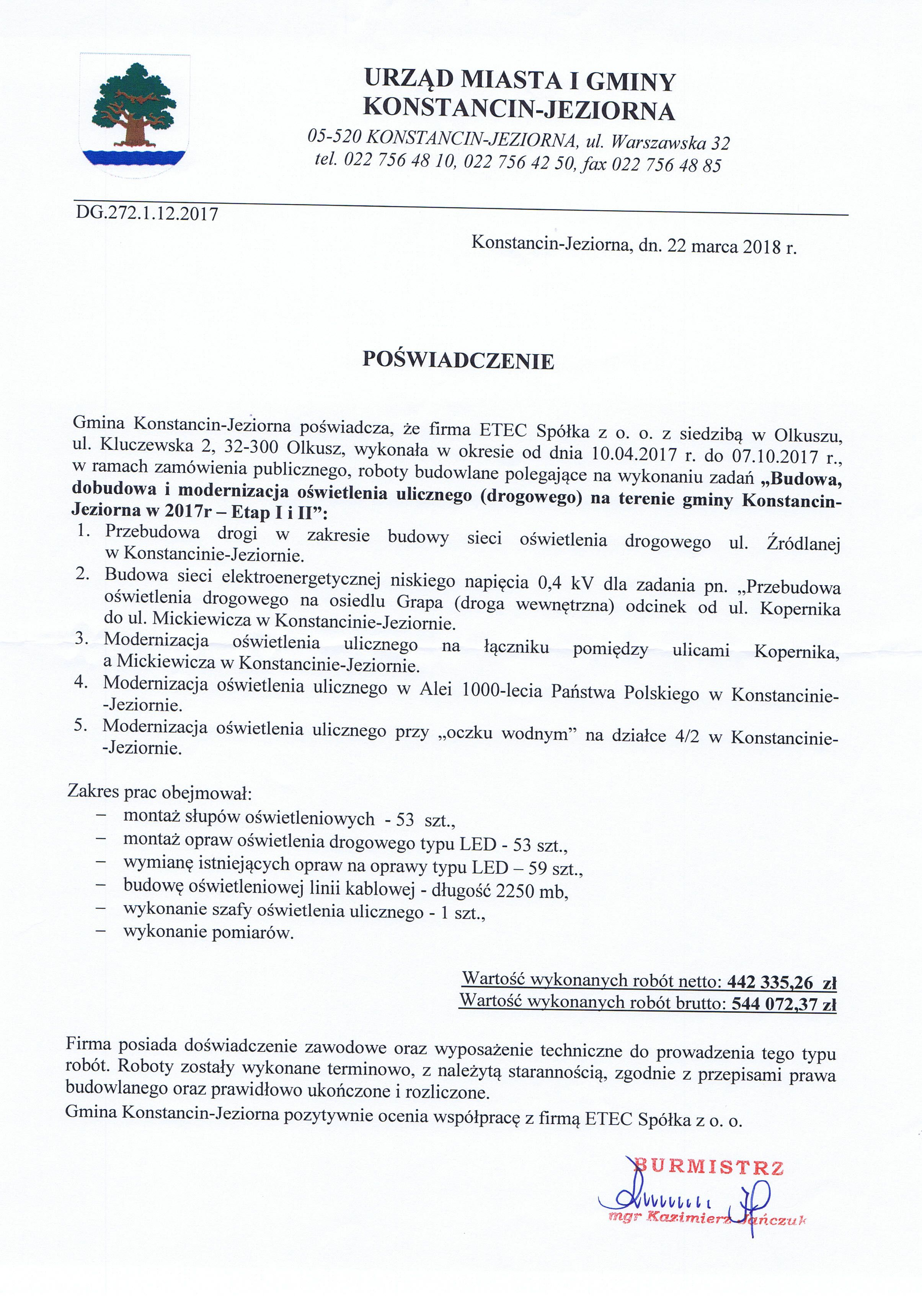 2017 Konstancin - Jeziorna